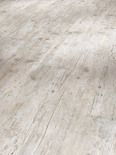 Parador Klick Vinyl Bodenbelag Classic 2030 Altholz geweißt Landhausdiele Holzstruktur 1,825m², hochwertige Holzoptik hell grau/weiß 9,6mm, einfache Verlegung