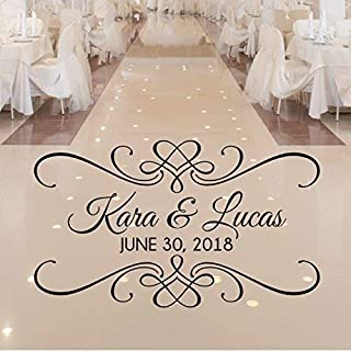Personalized Wedding Dance Floor Decal, Wedding Reception Decor, Over 30 Colors and Several Sizes