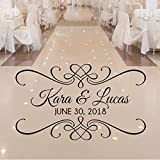 Personalized Wedding Dance Floor Decal, Wedding Reception Decor, Over 30 Colors and...