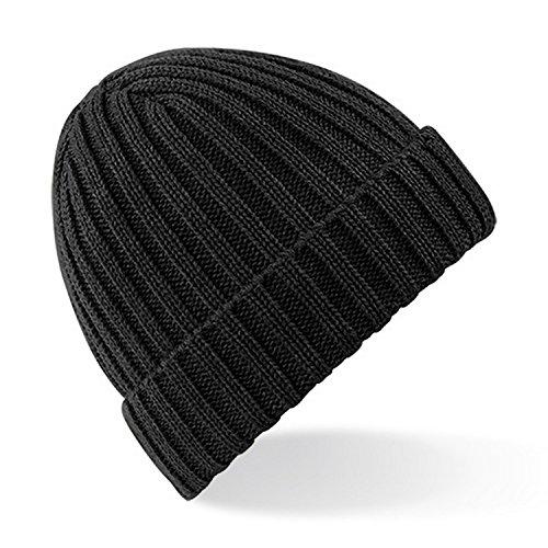 Beechfield - Bonnet épais - Homme (Taille unique) (Noir)