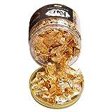 KINNO Fiocchi Foglia Oro, 5g Fiocchi di Lamina d'oro per Artigianato e Arte, Unghie, Dorature, Pittura, Melma (# 2.5 Oro)