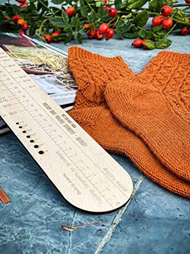 Sockgauge 4f, Sockruler, English Version, Sock knitting, Sock, hand knitting socks