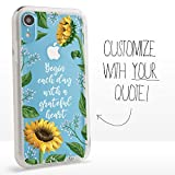 Guard Dog Custom Clear Cases for iPhone XR – Personalized Quote – Put Your...