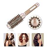 Cepillo redondo de cerámica Cepillo dorado para el cabello Peluquería Curling Cepillo para el peinado 4 tamaños diferentes Set de peluquería profesional(32 mm)