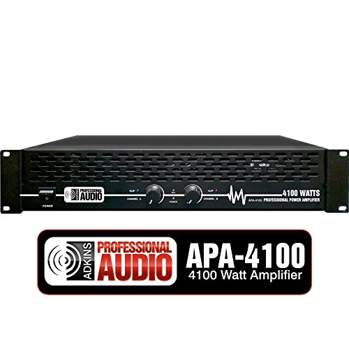 Best Deals! 4100 Watt Professional DJ Power Amplifier - Adkins Pro Audio - Quality Audio at Affordab...