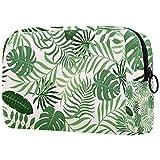 Bolsa de maquillaje personalizada para brochas de maquillaje, bolsa de aseo portátil para mujeres, bolso cosmético, organizador de viaje con hojas de palma
