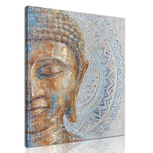 MELTBOR Mandala Buddha Canvas Wall Art Keep Inner Peaceful Artwork for Living Room Yoga Room Décor 20''x24''