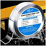 Nano Double Sided Tape, Strong Adhesive Double-Sided, Upgraded Thickness Nano Tape, Double Sided Tape Heavy Duty, Nano Tape Double Sided Pad, Wall Sticky Tape for Home, Car, Kitchen - 10ft Length