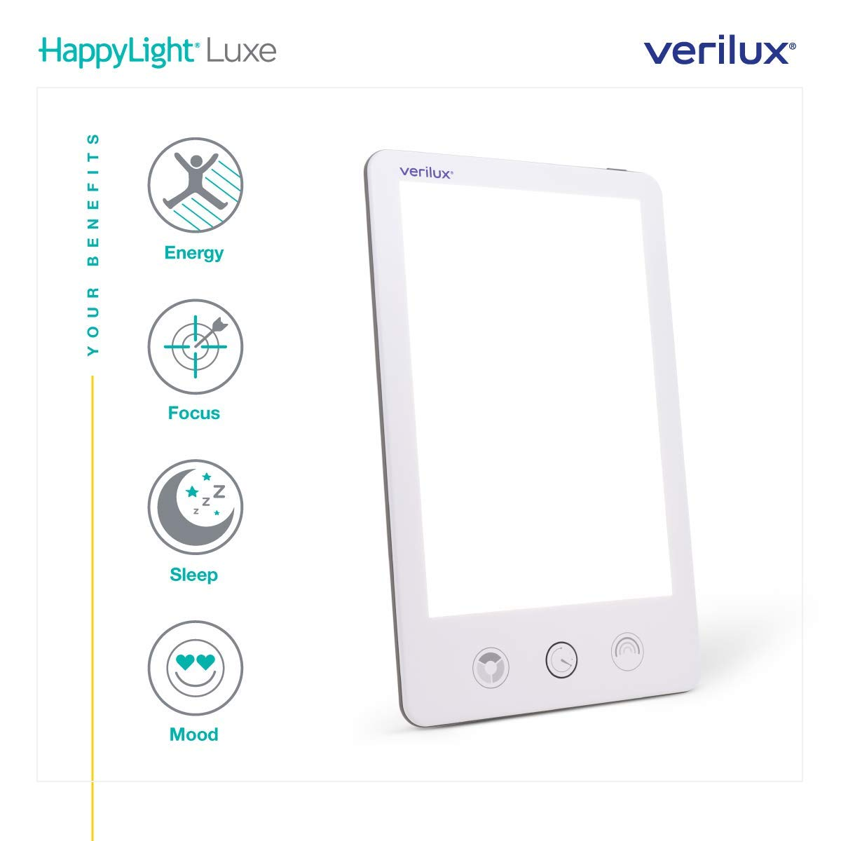 Verilux HappyLight Adjustable Brightness Countdown