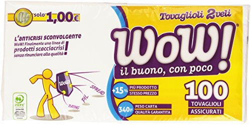 Wow - Tovaglioli 2 Veli - 100 Pezzi