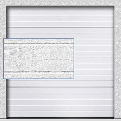 Sektionaltor in klassischem weiß 2400 mm x 2000 mm