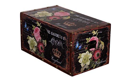 Baúl Caja SJ 16011 rosas caja de Londres, Baúl de madera con...