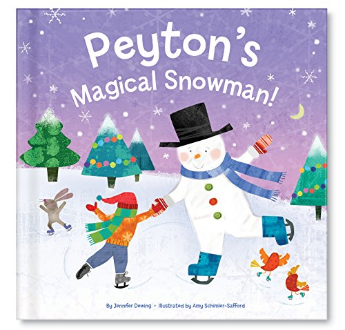 Unisex Gift for Kids Personalized, Frosty Snowman Book