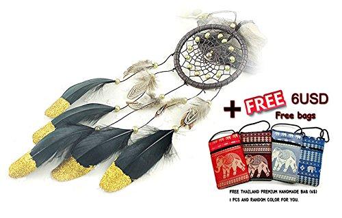 Indien Dreamcatcher Wind Chimes Anhänger Dream Catcher Dekoration + THAILAND Hand Tasche (bigdream + Tasche)