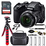 Nikon COOLPIX B500 Digital Camera (Black) with Free Accessory Kit Including 32GB Memory Card, Flexible Spider Tripod, Camera Case