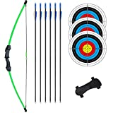 rootmemory Recurve Bow and Arrow Set for Teens 18 lbs with Arm Guard