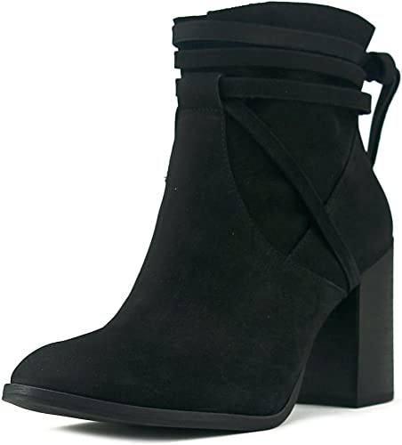 Steve Madden femmes Percy Leather Almond Toe Ankle Fashion, Blk Nubuck, Taille 9.0