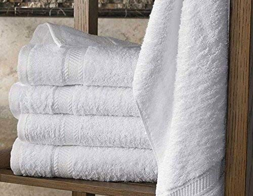 5 draps de bain 70x140 cm, ORPHEEBS Serviettes et Draps de Bain Hotel Spa BLANC, Divers Dimensions, 500 GR/m², 100% Coton