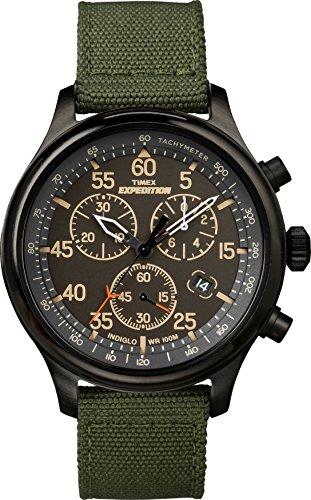 Timex Men's TW4B10300 Expedition Field Chronograph Green/Black Nylon Strap Watch