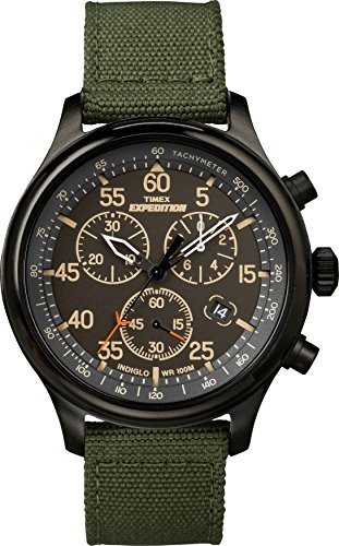 Timex Men's TW4B10300 Expedition Field Chronograph Green/Black Nylon Strap Watch