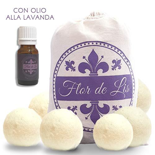 Bolas para secadora con aceite esencial lavanda perfecto perfume natural para tu colada, bola de lana, bolas de secado reutilizables, función suavizante perfume ropa