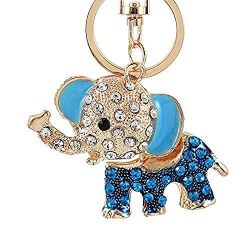 NC188 3D auspicioso Elefante Llavero Cadenas Esmalte Entero Colorido Bolsa de Cristal Colgante llaveros llaveros para Mujeres