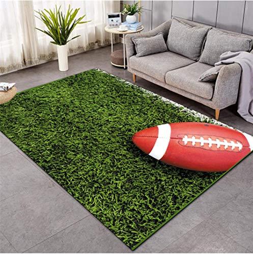 Rugby On The Grass Alfombra Impresa En 3D Sala De Estar Alfombra Antideslizante Dormitorio Juego De Cabecera Tapete De Rastreo Mat120 * 160Cm