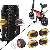 PTMD Fahrrad-Blinker, kabellos, mit Fernbedienung, für vorne und hinten, 1 Set