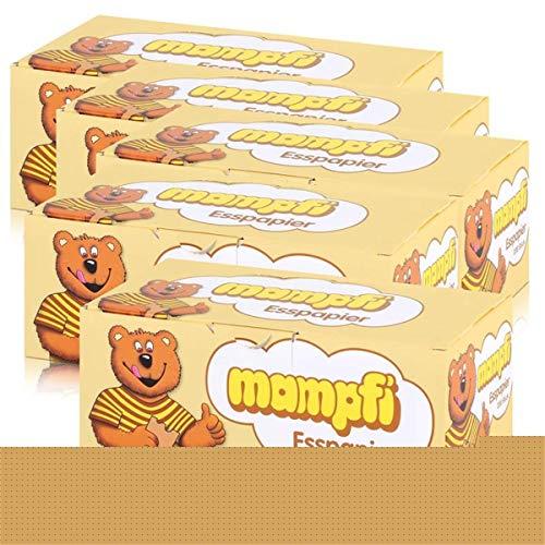 5 Boxen a 200 Stück Mampfi Esspapier Krusovic Esspapier Mampf Orginal Papier 5 x 270g