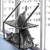 Katzenbett, Fenster Hängematte Doppelschicht, Haustier Heizkörper Sonnenliege, Niedlichen Haustier Katze Bett, Abnehmbare Waschbar Saugnapf, Hängen Katze Bett: 75 * 33 * 59 Cm Gemütlich