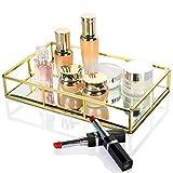 Bandeja de espejo dorado de Dawoo/bandeja cosmética/bandeja de perfume/bandeja de artícu...