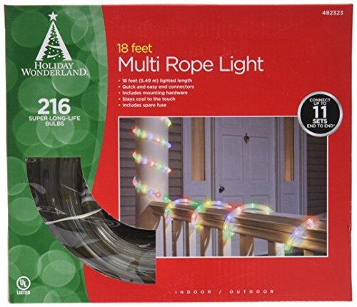 Noma/inliten 55131-88 Christmas Lights Multi Color Rope Light Set Tube Lights 18