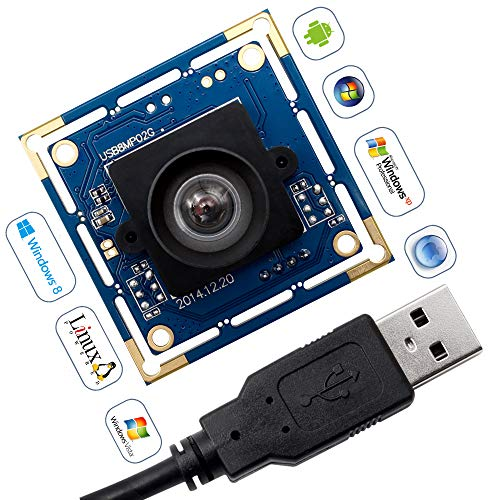 8 Megapixel USB Camera Module with Sony IMX179 Sensor Webcam Super HD 3264X2448 Embeded USB Camera for Industrial,USB with Camera for Linux Windows Android Mini Web Cams Plug&Play OTG Supported Webcam