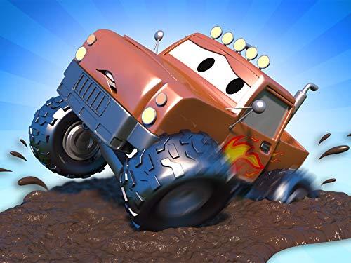 Der Staffellauf/ Hektor der Helikopter / Harvey der Mähdrescher kollidiert mit Troy / Gary das Müllauto bricht sich die Arme