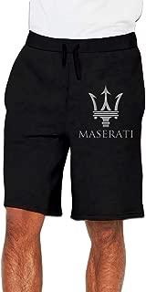 Syins Mens Designed Maserati Logo Fashion with Pockets Shorts Comfortable Shorts Sweatpant Black XXL