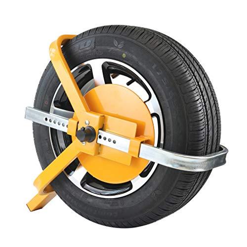 KAIRAY Radklemmenschloss Radkralle Auto-Reifenklemmschloss Reifenklauen-Diebstahlsicherung Für Anhänger Boote Rv, Rad 13-16' Maximale Reifenbreite 175 mm bis 210 mm