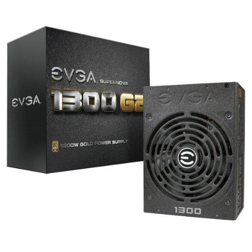 EVGA SuperNOVA 1300 G2 80+ GOLD, 1300W Voll Modular NVIDIA SLI und Crossfire Ready 10 Jahre Garantie Netzteil 120-G2-1300-X2