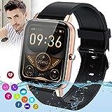 Burxoe Smartwatch Orologio Fitness Donna Uomo,Blutooth Smart Watch Impermeabile Con Pressione Sanguigna Cardiofrequenzimetro Messaggi Activity Tracker
