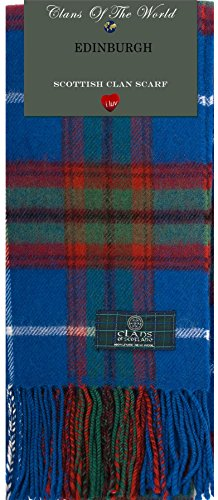 I Luv Ltd Edinburgh Tartan Clan Scarf 100% Soft Lambswool