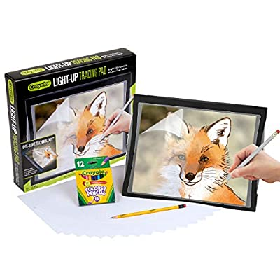 Crayola Light Up Tracing Pad with Eye-Soft Technology, Gifts for Teens, Ages 6, 7, 8, 9, 10 by Crayola