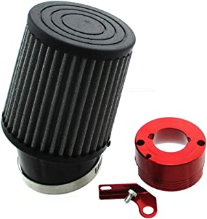 TC-Motor Air Filter Red Adapter For Honda 11Hp 13Hp GX340 GX390 Clone Engine Go Kart Predator 301cc 420cc Golf Carts Mud Boats Lawnmowers Minibikes Powered Paragliders GX270s 13/15hp Chinese OHVs