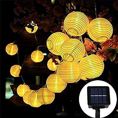 Vigdur Solar LED Fairy Lights White Lantern Str...