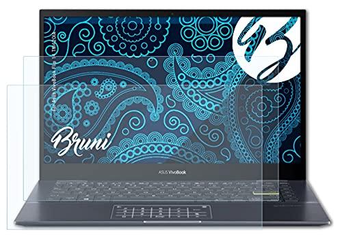 Bruni Schutzfolie kompatibel mit Asus VivoBook Flip 14 TM420IA Folie, glasklare Bildschirmschutzfolie (2X)