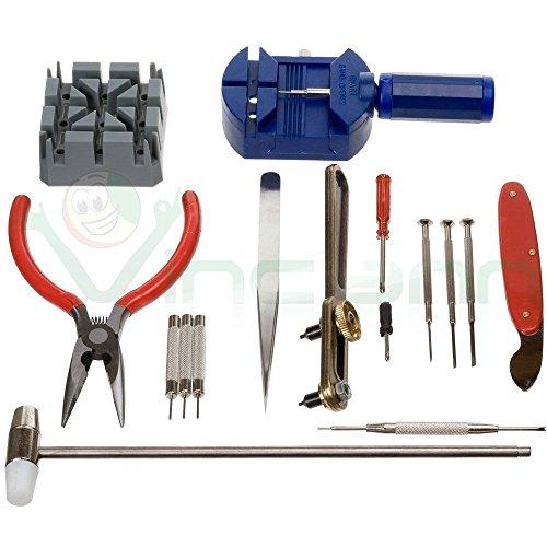 Kit 16 pezzi set completo professionale strumenti riparazione orologio orologi