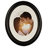 Gallery Solutions 11x14 Black Oval Wall Mount Mat for 8x10 Photo Picture Frame, 8' x 10'