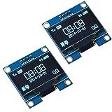 DollaTek 2Pcs 1.3 Zoll IIC I2C seriell 128x64 SSH1106 OLED LCD Display LCD-Modul für Arduino AVR PIC STM32 - Blaue Schrift