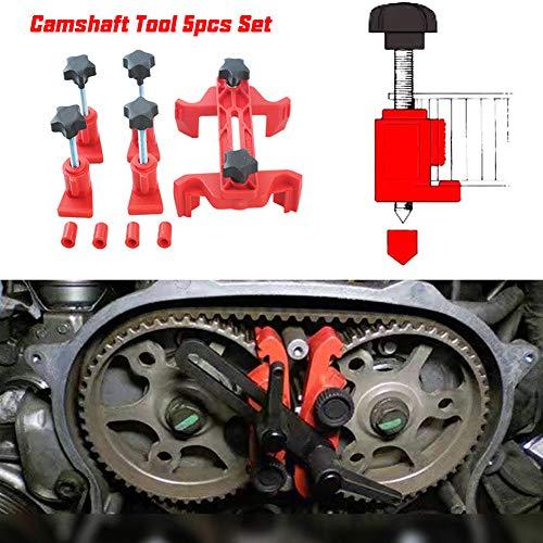 Mayyou 5 Dual Cam Clamp Camshaft Engine Timing Locking Tool Sprocket Gear Kit Universal