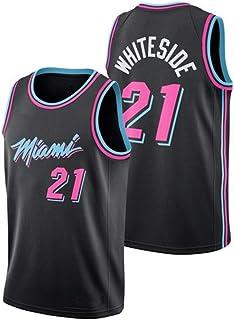 Hassan Whiteside 21# Baloncesto Jersey, Portland Trail Blazers de la NBA Juego de la Manga Unisex Uniforme, S-XXL