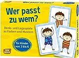 Wer passt zu wem?: Denk- und Legespiele zu Farben und Mustern für Kinder von 3 bis 6