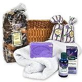 Lavendel Romantik Geschenkset mit edlen französischen Seifen und Badezusatz